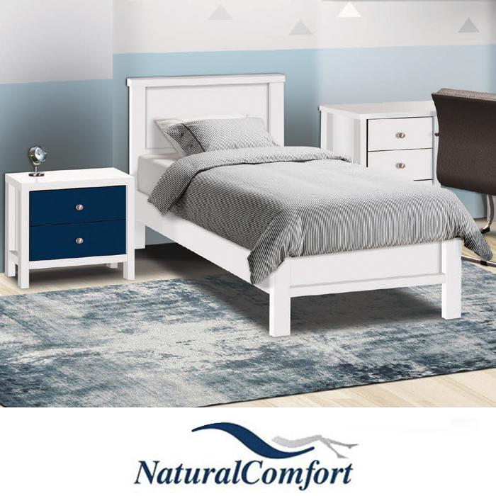 חדר ילדים  כולל מיטה עם מזרון  שידת לילה , שולחן פינתי עם כוורת תלויה דגם דניאל