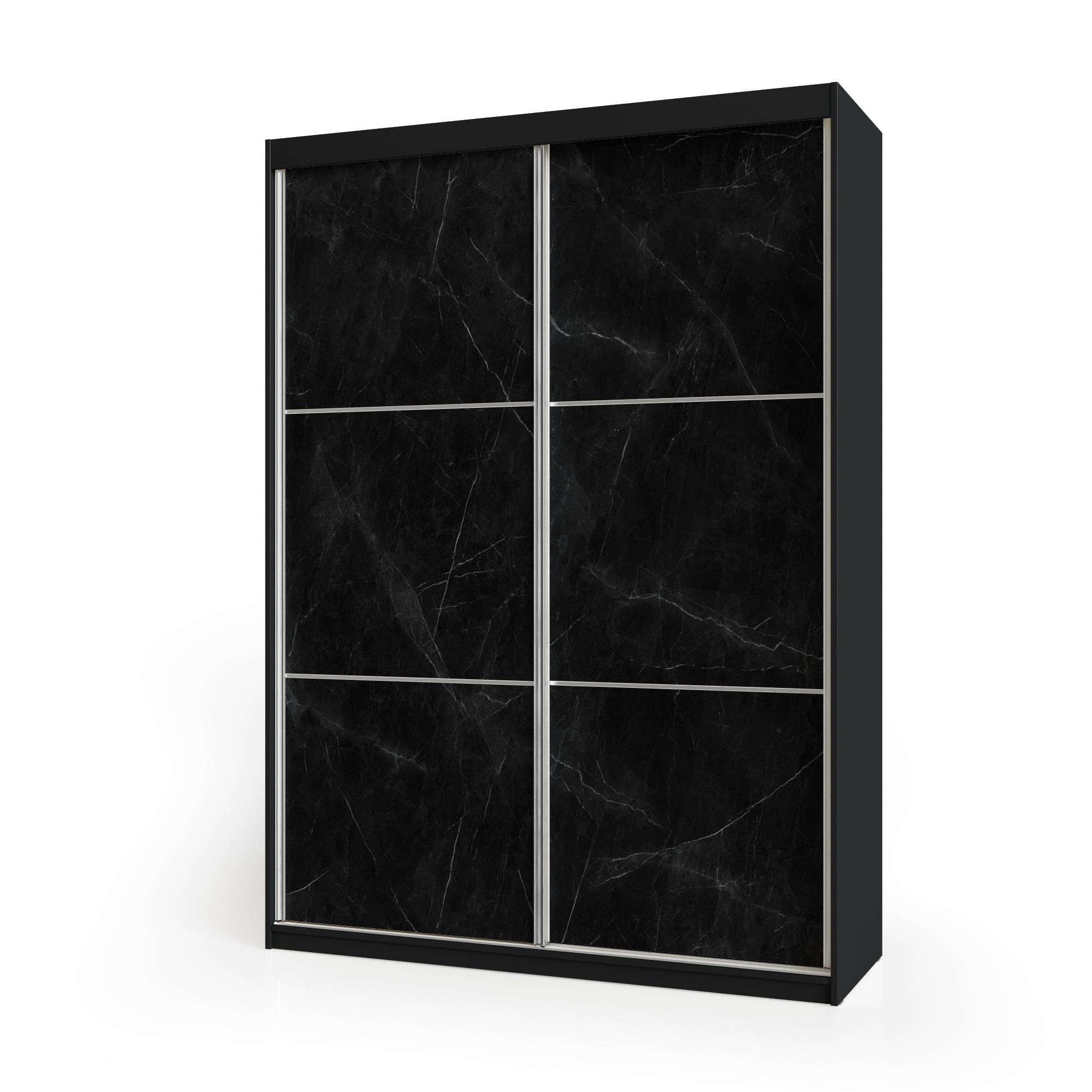 ארוןהזזה 2 דלתות משולב 2 צבעיםדגם שחור