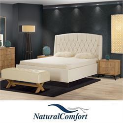 מיטה זוגית מרופדתמבדאו דמוי עורדגם מיקונוס