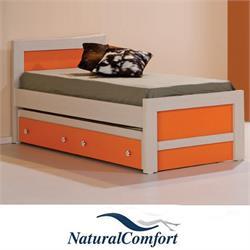 מיטת ילדים ונוער משולבת 2 צבעים כולל מיטת חבר ארגז דגם אביב