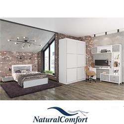 חדר ילדיםונוער  קומפלט הכולל מיטה עם מזרוןברוחב 120 שידה תואמת ספרייה מפוארת וארון הזזה 2 דלתות