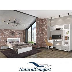 חדר ילדיםונוער הכולל מיטה עם מזרוןברוחב 120 שידה תואמת וספרייה מפוארת
