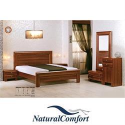 חדר שינה זוגי קומפלט הכולל מיטה, 2 שידות ,טואלט ומראה