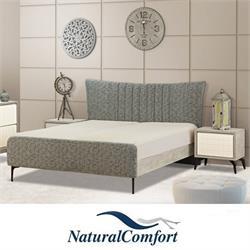 מיטה זוגית מרופדתמבדאו דמוי עור דגם טולוז