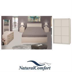 סט חדר שינה זוגי קומפלט וארון הזזה במחיר מיוחד דגם יוליה