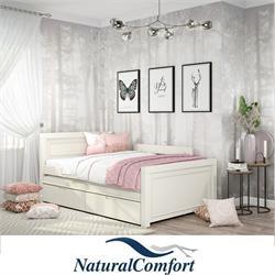 מיטתנוער ברוחב 120מעץ מלאכולל מיטה נגררת וזוג מזרנים מתנה דגם קליפורניה