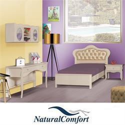 חדר ילדים  הכולל מיטה רחבה לנוער שידת לילה שולחן כתיבה עם כוורת דגם לולה