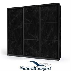 ארון הזזה 3 דלתות עם מסגרת אלומיניום שחורה לפי מידה  מאורך 1.8 מטר עד 2.3 מטר לבחירה דגם דארק
