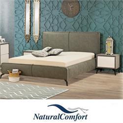 מיטה זוגית מרופדת מבד או דמוי עור  דגם מישל