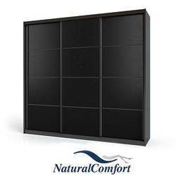 ארון הזזה 3 דלתות עם מסגרת אלומיניום שחורה לפי מידה מאורך 2.4 מטר עד 2.9 מטר לבחירה דגם דארק