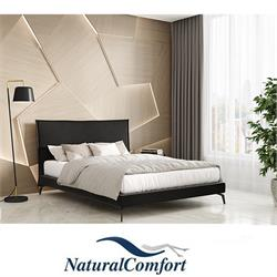 מיטה זוגית מעץ מלא מרופדת בבד קטיפה כולל מזרון  דגםברזיל