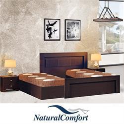מיטה יהודית בהפרדה עם ארגזי מצעים דגם אור