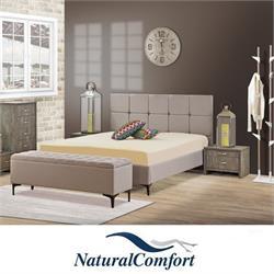 מיטה זוגית מרופדת מבד או דמוי עור  דגם רפאל