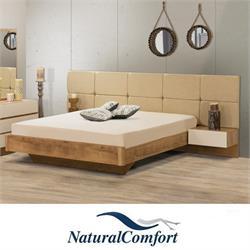 מיטה זוגית עם ראש רחב מרופדמבדאו דמוי עור דגם שיא