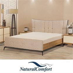 מיטה זוגית מרופדתמבדאו דמוי עור דגם סאן טרופז