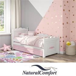 מיטת ילדים מעץ מלא דגם שאנל