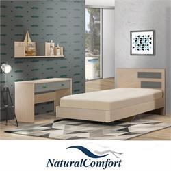 חדר ילדים כולל מיטה ברוחב וחצי ושולחן עם 2מגירות וכוורת דגם אריה