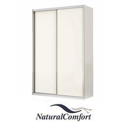 ארון הזזה 2 דלתות חלקות   באורך 1.6 מטר עם מסגרת אלומיניוםכולל מנגנוןטריקה שקטה כפולה דגם אביב