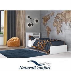מיטת יחיד מעץעםמזרון קפיצים מתנהדגםנירית פסים