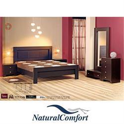 חדר שינה זוגי קומפלט הכולל מיטה, זוג שידות, טואלט ומראה