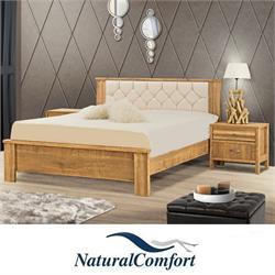 מיטה זוגית עם ראש מרופדמבדאו דמוי עור דגם yoli