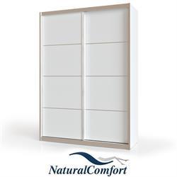 ארון הזזה 2 דלתות באורך 1.2 מטר עם מסגרת אלומיניום כולל טריקה שקטה כפולה דגם אביב