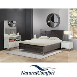 חדר שינה קומפלט מרופד ויוקרתי דגם מונקו