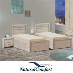 מיטה יהודית בהפרדה עם ארגזי מצעים דגם סיון