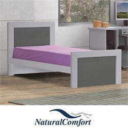 מיטת ילדים ונוער משולבת 2 צבעים דגם עוז