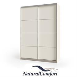 ארון הזזה 2 דלתות ברוחב 1.6 מטר מחולק ל 3 תאי אחסוןעם מסגרת אלומיניום