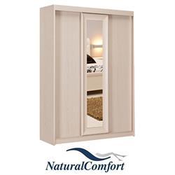 ארון הזזה 3 דלתות עם מראה ברוחב 1.8 מטר עשוי MDF