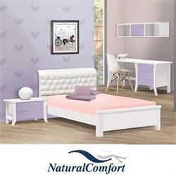 חדר ילדים  הכולל מיטה מרופדת, שידה, כוורת ושולחן