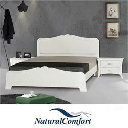 מיטה זוגית עם ראש  מעוצב ומרופדמבדאו דמוי עור דגם לונדון