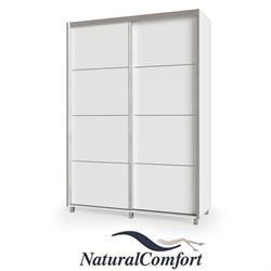 ארון הזזה 2 דלתות על במה עם רגליים באורך 1.6 מטר  עם מסגרת אלומיניוםכולל מנגנוןטריקה שקטה כפולה