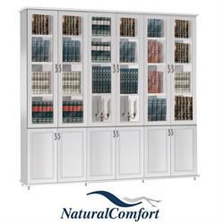 ספריית קודש 6 דלתות על במה ברוחב 2.4 מטר דגם לוטם