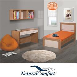 חדר ילדים  כולל מיטה  וספרייה דגם תמר