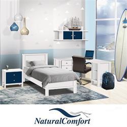 חדר ילדים  כולל מיטה עם שידה , שולחן פינתי עם כוורת תלויה דגם דניאל