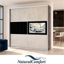ארון טלוויזיה 2 דלתות באורך 2 מטר  כולל טלוויזיה 40 אינץ חכמה