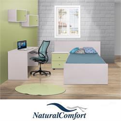 חדר ילדים  כולל מיטה עם שידה  ושולחן כתיבה דגם נעמי