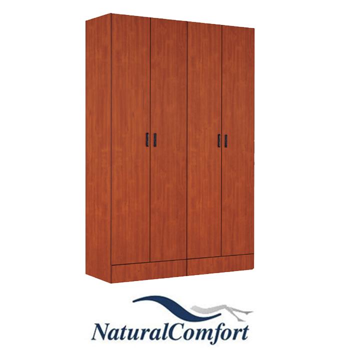 ארון בגדים 4 דלתות נפתחות ו 4 מגירות  MDF
