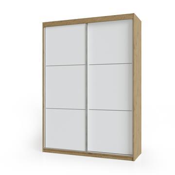 ארוןהזזה 2 דלתות משולב 2 צבעיםדגםאלון