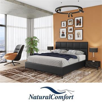 מיטה זוגית מרופדת עם זוג שידות מעוצבות דגםרפאלה