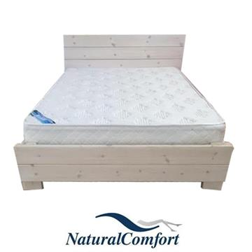 מיטה וחצי מעץ אורן מלא + מזרן תואם