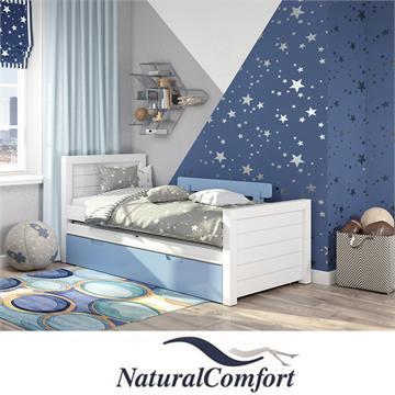 מיטת ילדים מעץ מלאכוללזוג מזרנים ספוג לבן עבים במתנה דגם דיזל