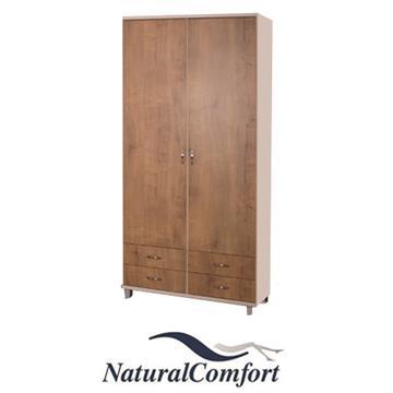 ארון בגדים מעוצב 2 דלתות ו 4 מגירות  על רגליים דגם תומר