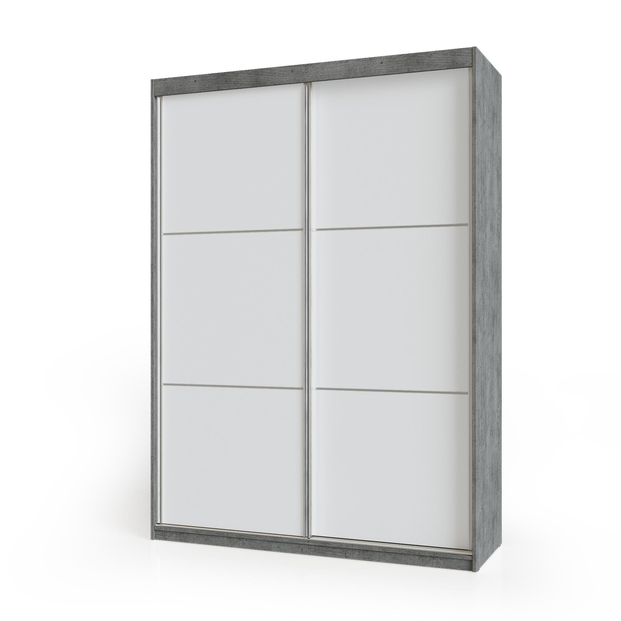 ארוןהזזה 2 דלתות משולב 2 צבעיםדגםבטון משולב