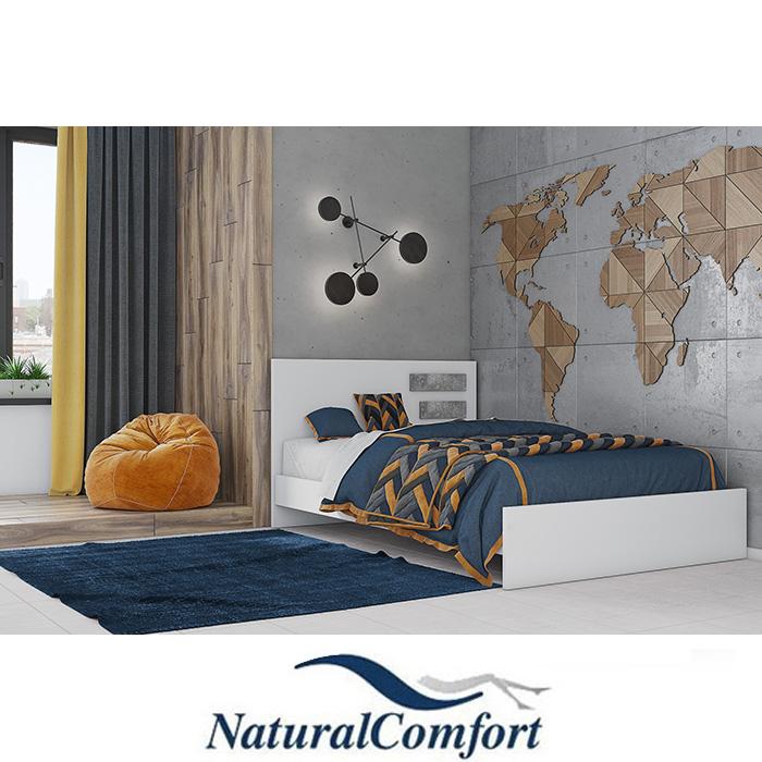 מיטה ברוחב וחצימעץ דגםנירית פסיםעםמזרון קפיצים מתנה