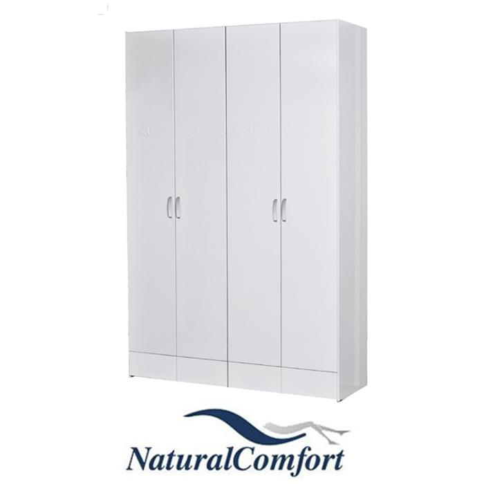ארון בגדים 4 דלתות עשוי MDF