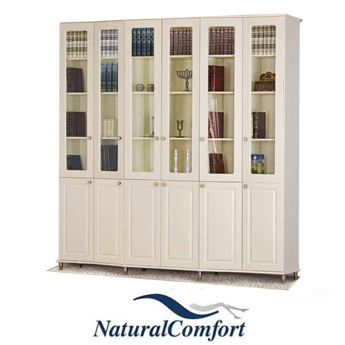 ספריית קודש 6 דלתות על במה ברוחב 2.4 מטר דגם בנין