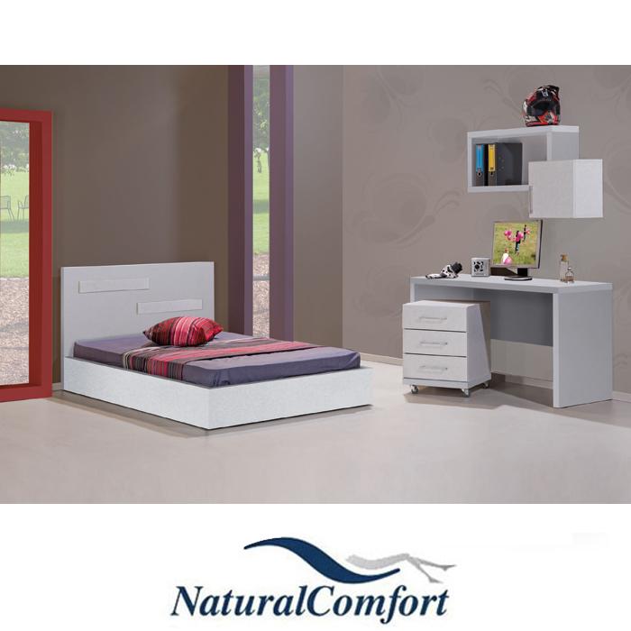 חדר ילדים כולל מיטה ברוחב 120 ושולחן עם 3 מגירות וכוורת דגם דנה